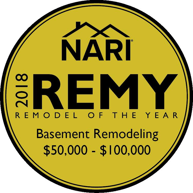 2018 Gold Medal, Basement Remodeling, $50k - $100k